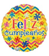 "18"" Feliz Cumpleanos Bright Balloon"