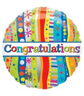 "18"" Congratulations Bold and Wavy Balloon"