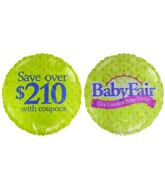 "18"" Baby Fair Event Purple & Green Background Balloon"