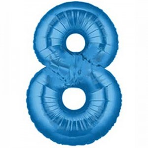 "40"" Large Number Balloon 8 Blue"