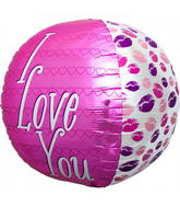 "17"" I Love You Kisses Sphere"