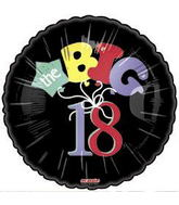 "18"" The Big 18 Black Balloon Black"