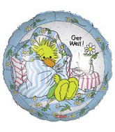 "18"" Get Well Suzy Zoo Balloon Packaged"