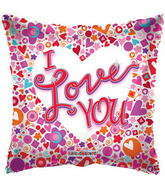 "9"" I Love You Balloon Mosaic Clear View"