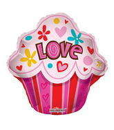 "22"" Love Cupcake Shape"