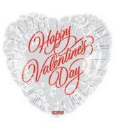 "4"" Airfill Only Happy Valentine&#39s Day Formal Red on White"