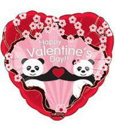 "18"" Happy Valentine&#39s Day Balloon Panda Bear"