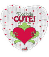 "18"" Toad'ally Cute Frog Balloon"