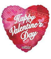 "4"" Happy Valentine&#39s Day Balloon Air Mail"