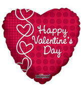 "4"" Happy Valentine's Day Balloon Laced Hearts"