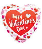 "18"" Happy Valentine&#39s Day Balloon Classic Gellibean"