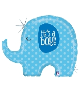 "32"" Holographic Shape It&#39s A Boy Elephant"