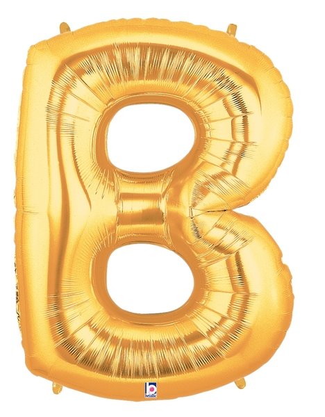 "7"" Airfill (requires heat sealing) Letter Balloons B Gold"