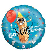 "21"" Two-Sided Packaged Go Nuts Birthday Google Eyes"