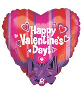 "22"" Two-Sided Balloon w/ attached Bow Valentine"