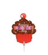 "14"" Airfill Only Shape Balloon Valentine&#39s Day Cupcake"