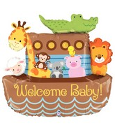 "37"" Foil Shape Balloon Noah&#39s Ark Welcome Baby"