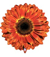 "24"" Foil Shape Balloon Orange Flower"