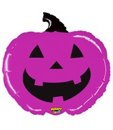 "28"" Mighty Bright Shape Balloon Mighty Purple Pumpkin"