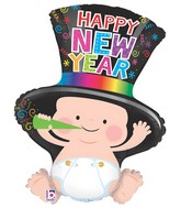 "31"" Foil Shape Balloon New Year Baby"