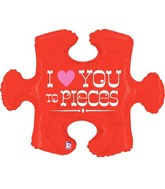 "42"" Foil Shape Packaged Love You To Pieces Puzzle"
