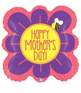 "23"" Foil Shape Balloon Square Flower Mother&#39s Day"