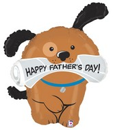 "35"" Foil Shape Balloon Father&#39s Day Pup"