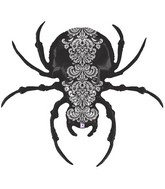 "47"" Foil Shape Balloon Pretty Scary Spider"