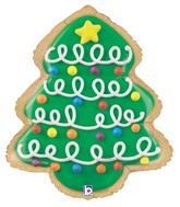 "25"" Foil Shape Balloon Christmas Tree Cookie"