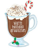 "36"" Foil Shape Balloon Holiday Hot Chocolate"