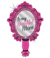 "39""Holographic Shape Balloon Beautiful Mom Mirror"