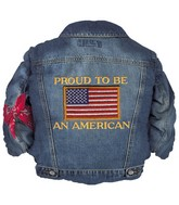 "37"" R.W.B. Jean Jacket Balloon"