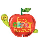"40"" Great Teacher Apple & Worm Super Shape"