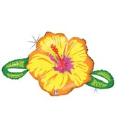 "39""  Holographic Linky Hibiscus Flower"