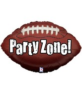 "29"" Party Zone! Football Shaped Balloon"