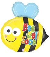 "31"" Foil Shape Balloon Packaged Bee Well Buzz"