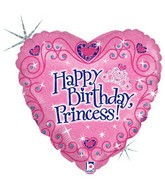 "18"" Holographic Balloon Happy Birthday Princess"