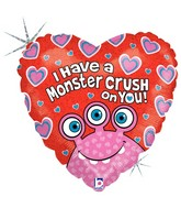 "18"" Holographic Balloon Monster Crush on You"