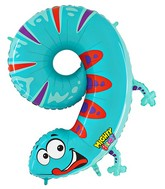 "40"" Number 9 ""Gecko"" Jumbo Balloon (Polybag)"