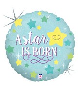"18"" Holographic Packaged A Star Is Born - Boy Balloon"