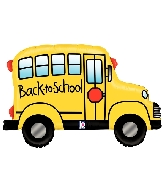 "32"" Foil Shape Balloon Back to School Bus"