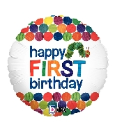 "18"" MAX Float 1st Birthday Very Hungry Caterpillar Balloon"