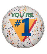 "18"" You&#39re Number 1 Balloon"