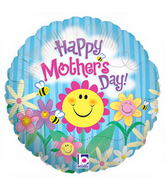 "9"" Airfill Only Happy Garden Mother&#39s Day Balloon"