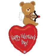 "44"" Foil Balloon Cupid Bear Valentine"