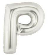 "7"" Airfill (requires heat sealing) Letter Balloons P Silver"