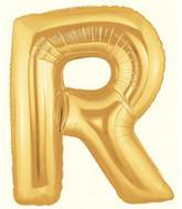 "7"" Airfill (requires heat sealing) Letter Balloons R Gold"