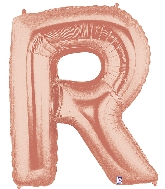 "40"" Foil Shape Megaloon Balloon Letter R Rose Gold"