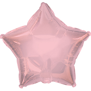 "7"" Pale Pink Star Self Sealing Valve Foil Balloon"