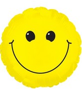 "9"" Yellow Smiley Face Self Sealing Valve Foil Balloon"